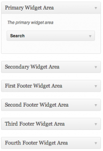 Widget Areas
