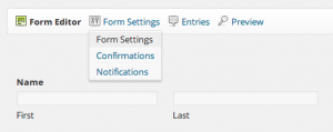 Change Form Settings Gravity Forms
