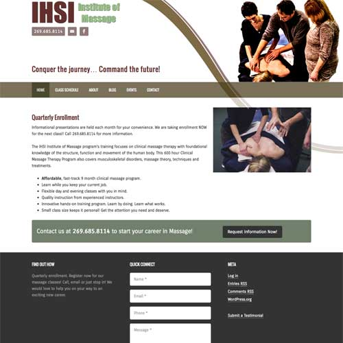 Plainwell Michigan Massage Therapy Website Design