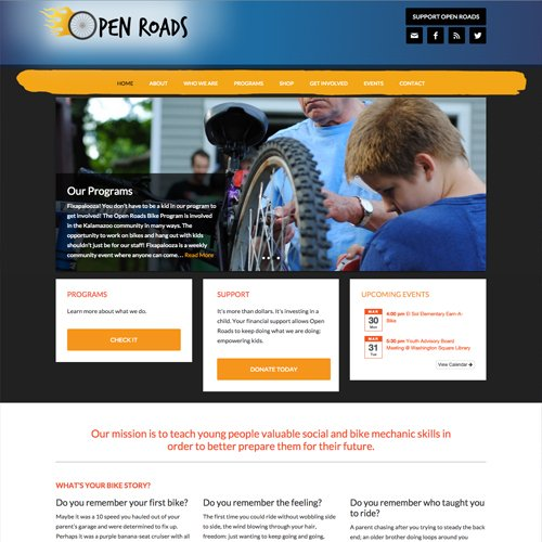 Kalamazoo Michigan Youth Development Organization Website Design