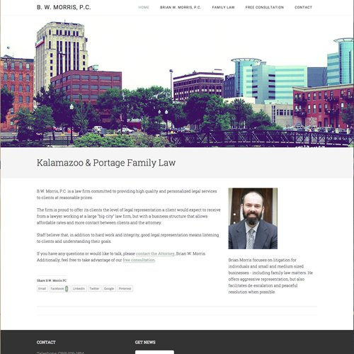 Kalamazoo Michigan Lawer Website Design