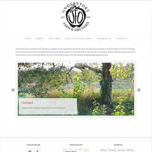 Bangor Michigan Organic Farm Website Design