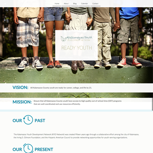 Kalamazoo County Youth Development Organization Website Design