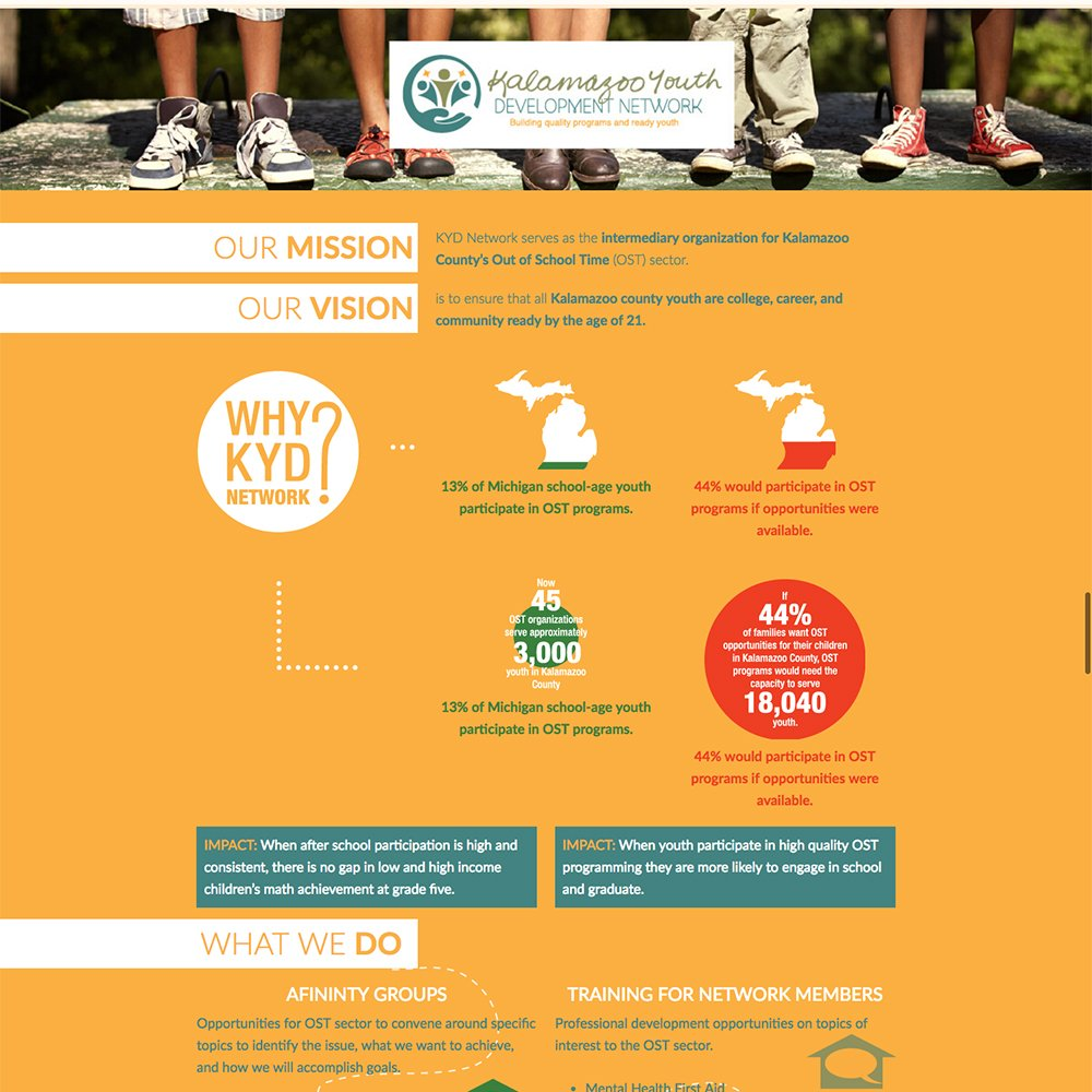 Kalamazoo County Youth Development Organization Infographic Design