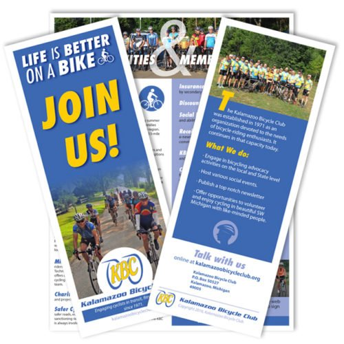 Kalamazoo Michigan Bicycle Club Graphic Design