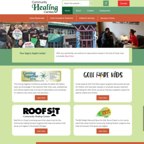 Kalamazoo Michigan Mental Health Website Design