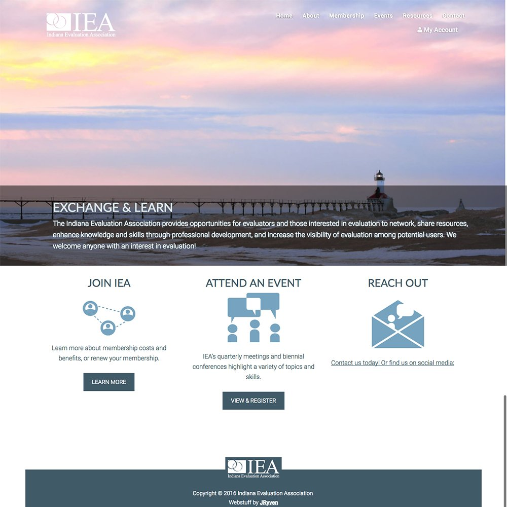 Indiana Evaluation Company Website Design